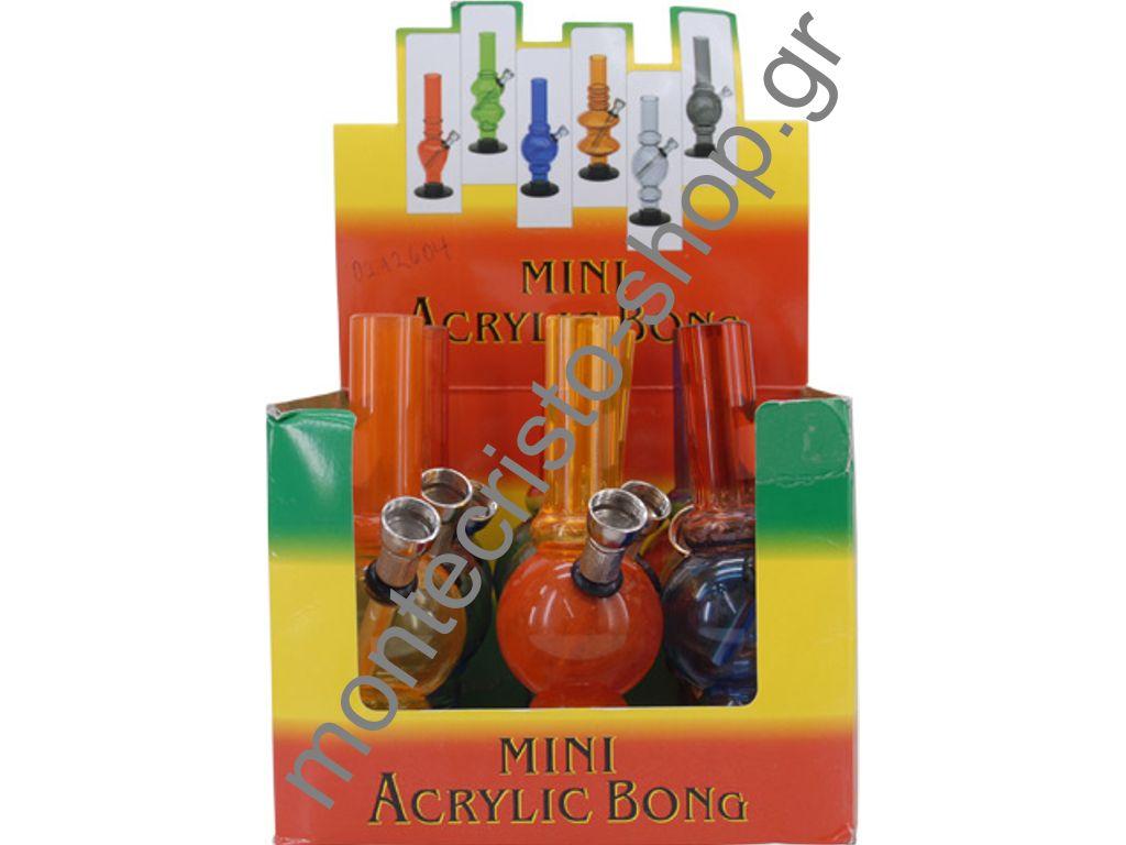Σετ με 12 CONEY Mini Acryl Bong 15cm 3,20 το ένα