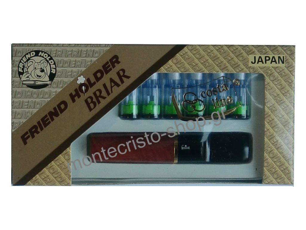 1548 - Πίπα τσιγάρου Friend Holder από ξύλο BRIAR 8mm made in japan
