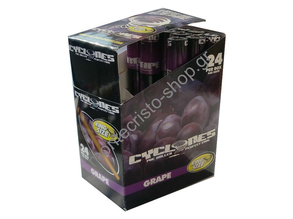 1566 - Κουτί με 24 Cones Κώνος CYCLONE Grape σταφύλι 0,43 ο ένας