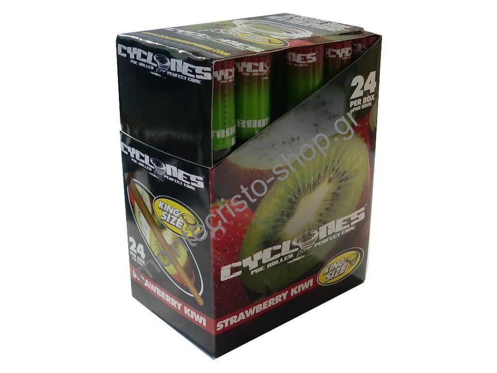 1570 - Κουτί με 24 Cone CYCLONE Blunt Strawberry Kiwi, Φράουλα ακτινίδιο 0,43 ο ένας