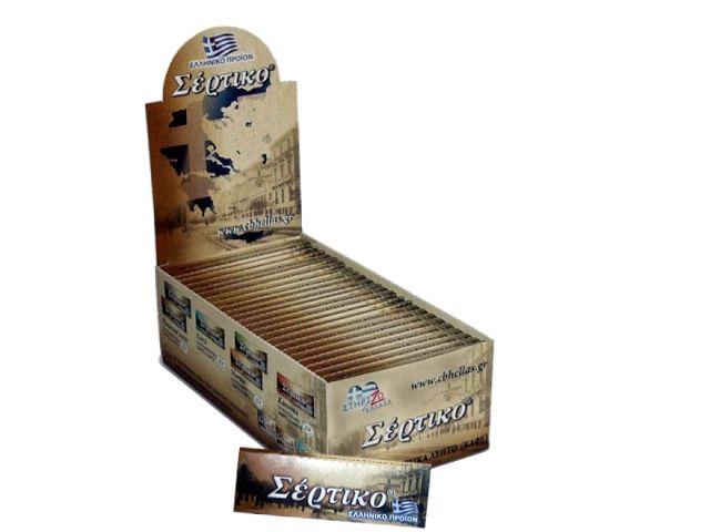 Κουτί με 50 χαρτάκια Σέρτικο καφέ εξαιρετικά λεπτό, χωρίς χλώριο, φύλλα 50