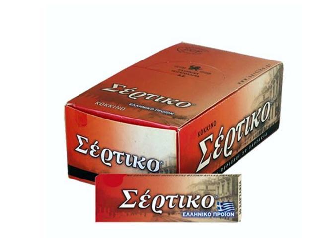 χαρτάκια Σέρτικο κόκκινο, κανονικό, φύλλα 50, κουτί με 50 τσιγαρόχαρτα