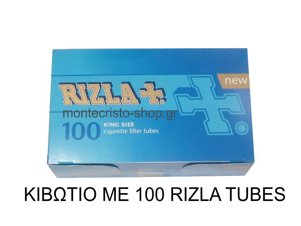 Κιβώτιο με 100 άδεια τσιγάρα Rizla King Size Cigarette tubes [0,62 το ένα]