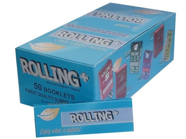 1598 - Κουτί με 50 χαρτάκια Rolling μπλε 47500-042