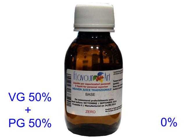 Ατμιστική βάση flavour art tradizionale (VG+PG) 0% νικοτίνη 100ml