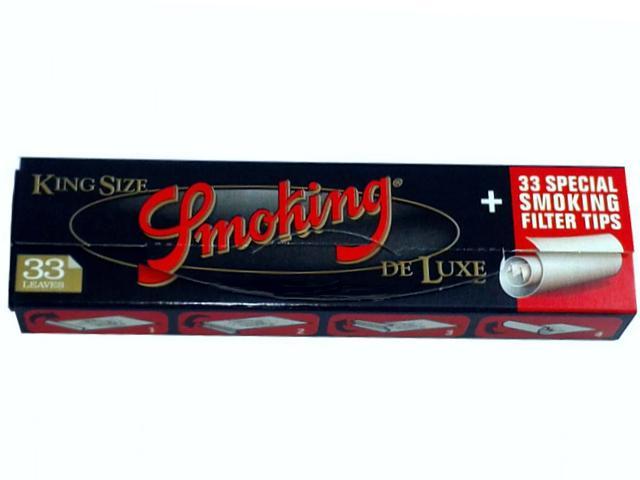1750 - Χαρτάκια Smoking De Luxe king size + Filter Tips και τζιβάνες