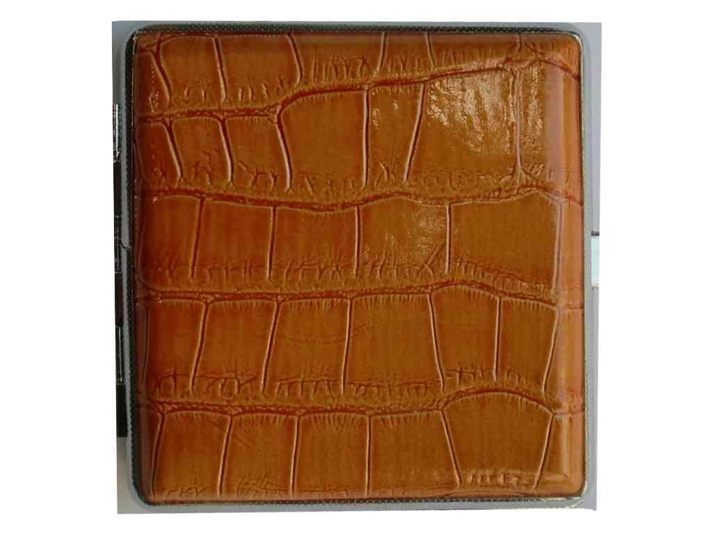 1798 - Ταμπακιέρα ταμπά κροκο για 18-20 τσιγάρα