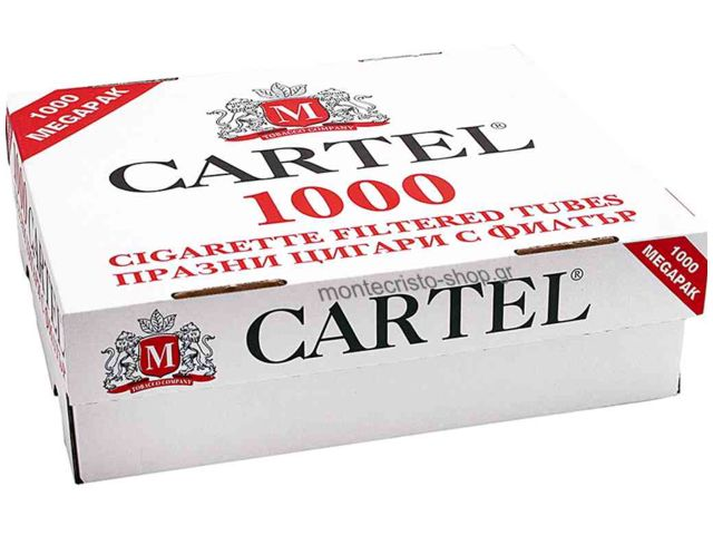 1879 - ����� ������� CARTEL 1000 Filtered Cigarette Tubes King Size �� 1000 ��������������