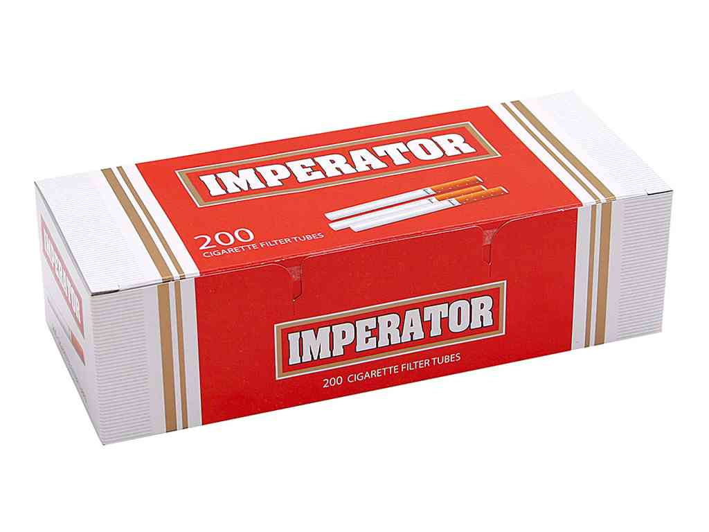 1889 - Άδεια τσιγάρα IMPERATOR red 200 cigarette filter tubes