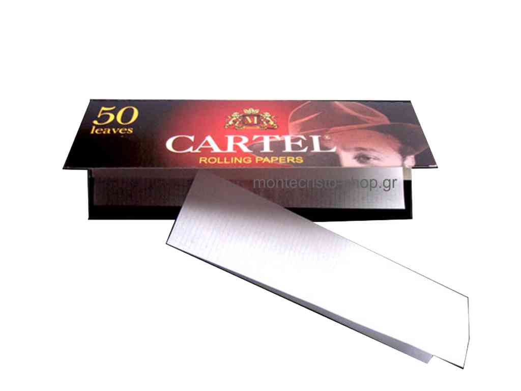 1896 - Χαρτάκια CARTEL RED 50 φύλλα (κανονικό πάχος)