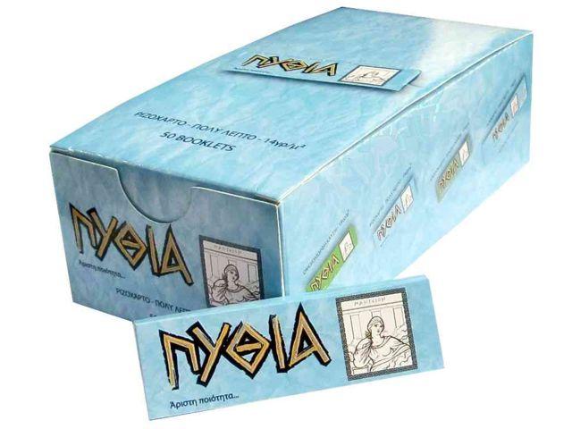1947 - Κουτί με 50 χαρτάκια ΠΥΘΙΑ γαλάζια με 50 φύλλα