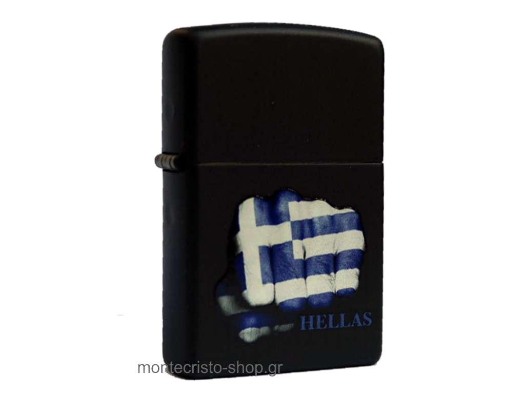 Αναπτήρας ZIPPO 218 GREEK FLAG FIST