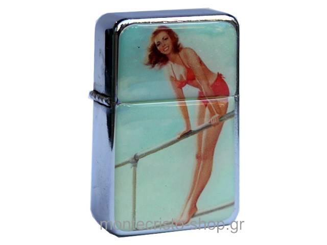 2073 - Αναπτήρας TRISTAR πέτρας με φιτίλι pin up girl in a red swimsuit