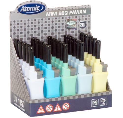 25 αναπτήρες Atomic Mini BBQ Lighter Pavian Softflame Refillable Pastel Assorted με τιμή 0.69 ο ένας