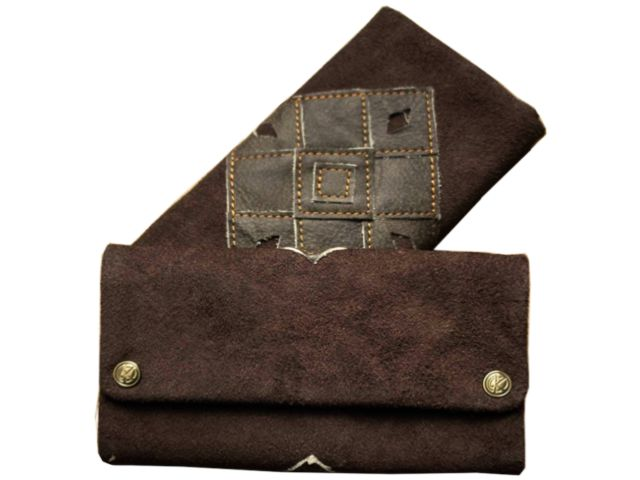 2100 - Δερμάτινη καπνοθήκη Tobacco Pouch ORIGINAL KAVATZA PATCHWORK EARTH TP8 (καφέ)