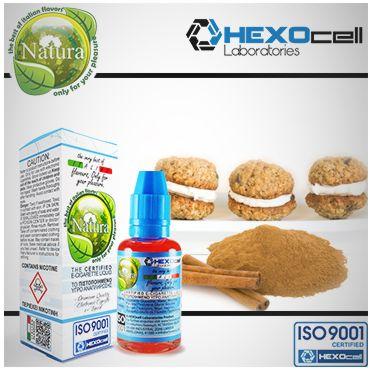 Υγρό αναπλήρωσης Natura - Cinnamon - Cookies (Κανέλα - Μπισκότο) 30ml