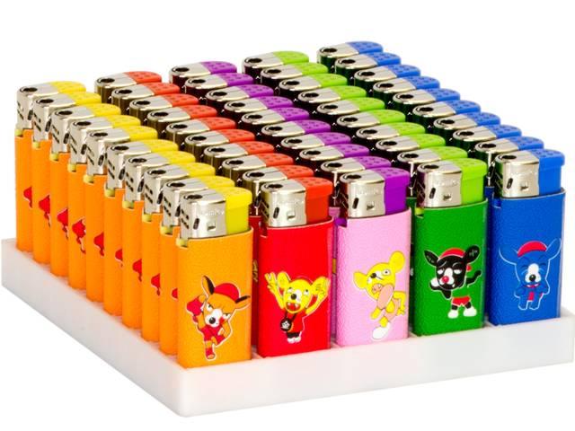 2158 - Κουτί με 50 αναπτήρες Atomic Electronic Lighter Midi Softflame Refillable Mice ηλεκτρονικός (τιμή 0,27 ο ένας)