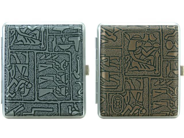 2220 - Ταμπακιέρα Coney Cigarette Case Egypt Assortedγ για 16-18 τσιγάρα σε 2 χρώματα