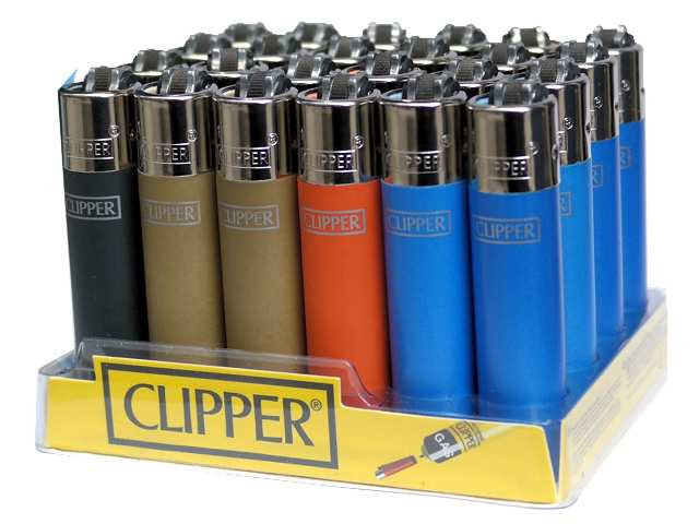 2258 - 24 αναπτήρες Clipper CP22R Classic Micro Metallic σε τιμή χονδρικής