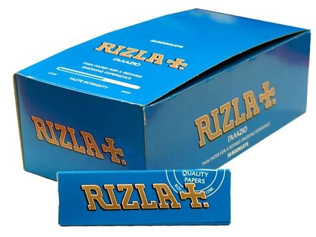 Χαρτάκια Rizla Γαλάζιο 60 φύλλα, κουτί 50 τεμαχίων