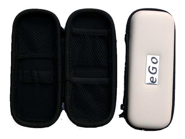 2301 - Θήκη με φερμουάρ για ηλεκτρονικό τσιγάρο χρώμα άσπρο