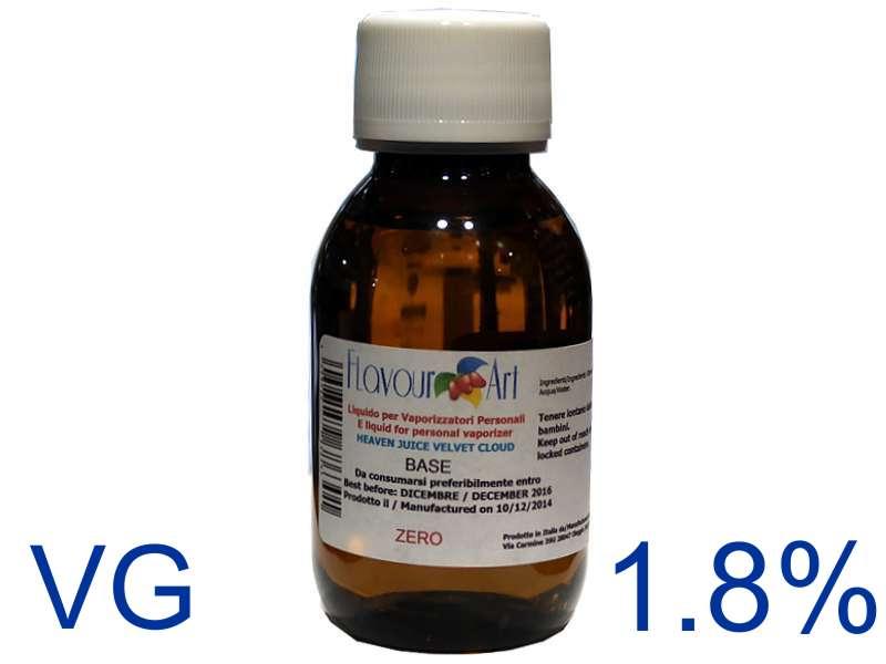 2362 - Ατμιστική φυτική βάση flavour art Velvet Cloud 1.8% νικοτίνη (VG) ποσότητα 100ml