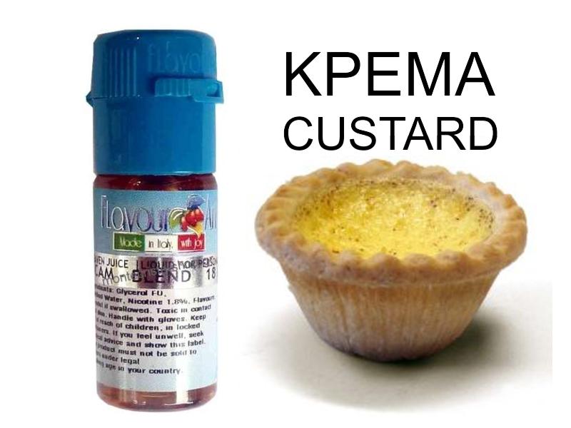2392 - Υγρό αναπλήρωσης Flavour Art KREMA Custard 10 ml