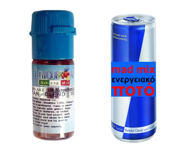 2399 - Υγρό αναπλήρωσης Flavour Art Mad FRUIT ΕΝΕΡΓΕΙΑΚΟ ΠΟΤΟ 10 ml
