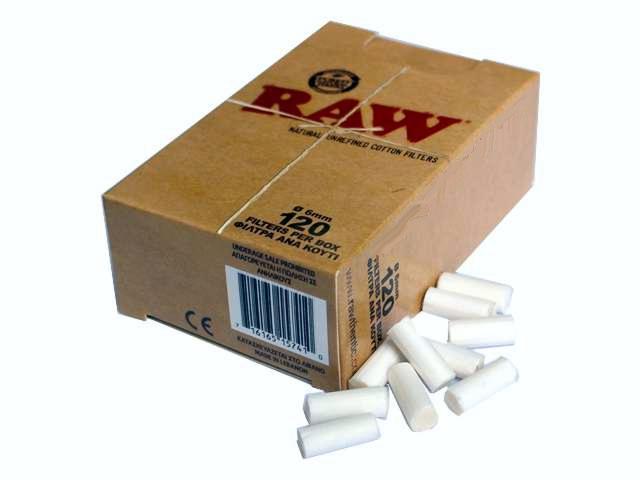 Φιλτράκια στριφτού Raw Slim (120 φιλτράκια)