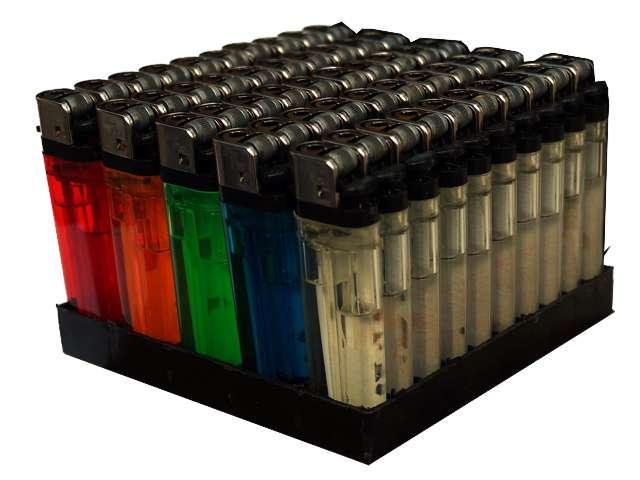 Κουτί με 50 αναπτήρας Wild Fire πλαστικός σε διάφορα χρώματα