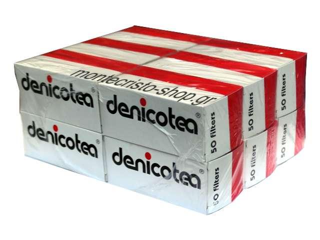 Οικονομική συσκευασία με ανταλλακτικά φίλτρα DENICOTEA με 12 τεμάχια των 50