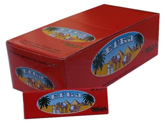 Χαρτάκια στριφτού EFKA κόκκινα (κουτί με 50 τσιγαρόχαρτα)