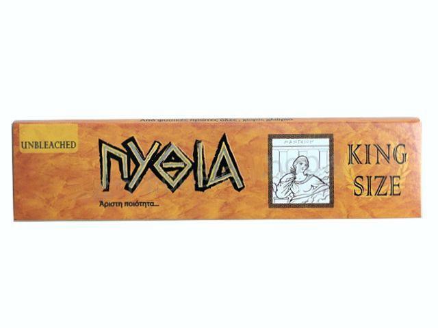 Χαρτάκια στριφτού Πυθία ακατέργαστο King Size