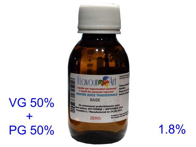 Ατμιστική βάση flavour art tradizionale (VG+PG) 1.8% νικοτίνη 100ml