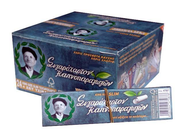 Κουτί με 24 χαρτάκια του παππού 47587 King Size Slim και τζιβάνες