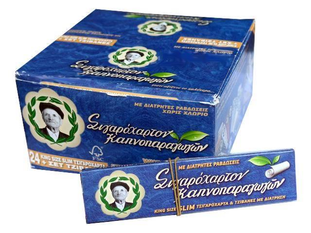 2707 - Κουτί με 24 χαρτάκια του παππού 47584 King Size Slim και τζιβάνες