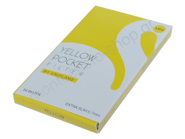 Φίλτρα στριφτού Swan Pocket Yellow extra Slim 5.7mm