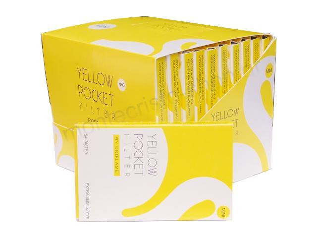2801 - Κουτί με 20 φιλτράκια στριφτού Uniflame Pocket Yellow extra Slim 5.7mm