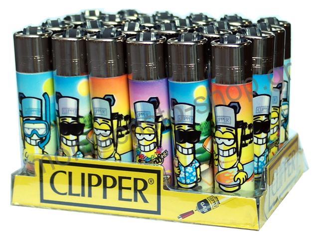 2814 - Κουτί με 24 αναπτήρες Clipper Large D24 CP11R Caracters CU (μεγάλος)