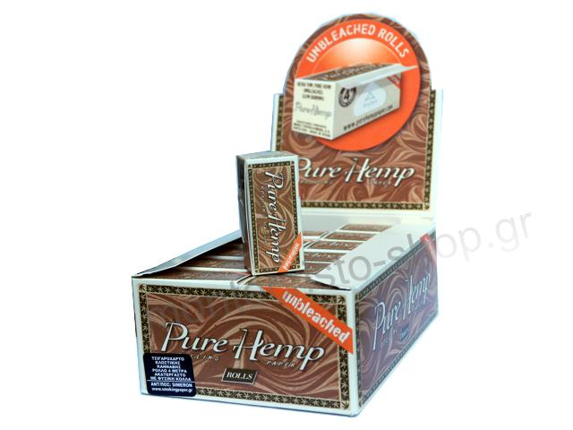 Κουτί με 24 Ρολά Pure Hemp unbleched ακατέργαστο 4 μέτρα