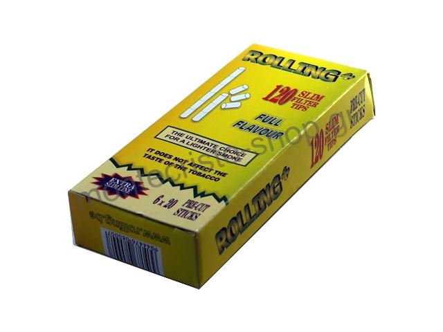 2917 - Φιλτράκια στριφτού Rolling 47608 Extra Slim 5.5mm 120 τεμάχια σε σελοφάν