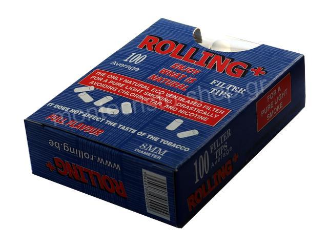 Φιλτράκια στριφτού Rolling 47606 για κανονικό τσιγάρο 8mm 100 τεμάχια