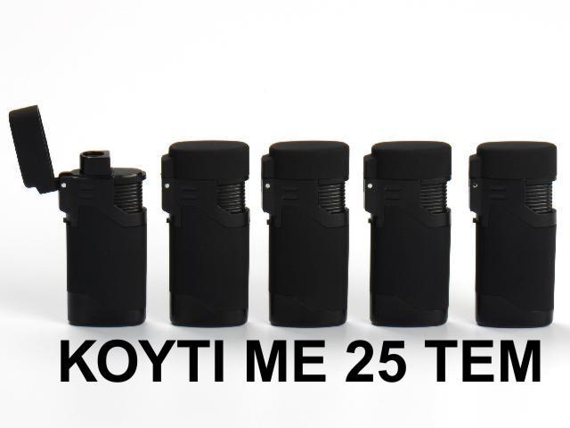 2946 - Κουτί με 25 αναπτήρες Atomic Black Rubber (φλόγιστρο) 2514701 (τιμή 1.10 το τεμ)