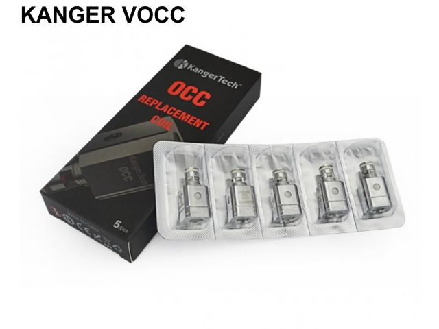 Κεφαλές Subtank OCC για ατμοποιητές Kanger (5 τεμάχια με τιμή €2.90 ο ένας)