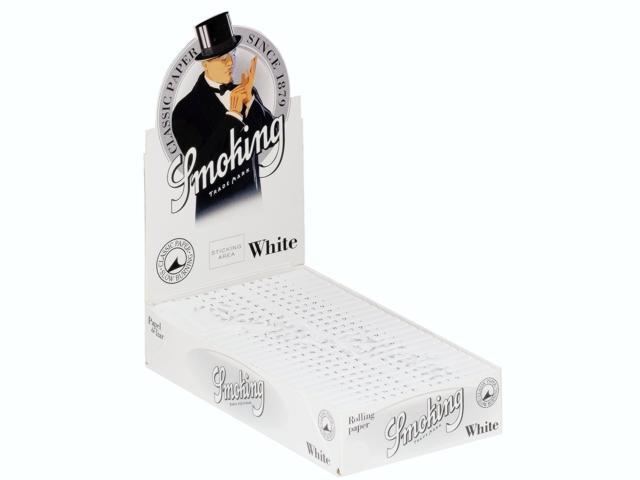 3025 - Κουτί με 25 χαρτάκια στριφτού Smoking White άσπρα 1 1/4 μεσαία
