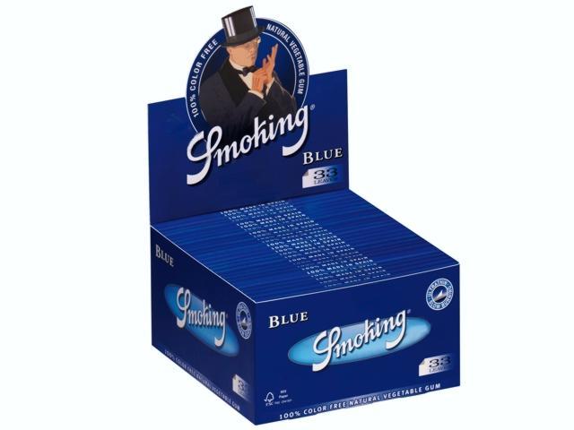 3027 - Κουτί με 50 χαρτάκια στριφτού Smoking Blue Μπλε KING SIZE (τιμή 0.48 το ένα)