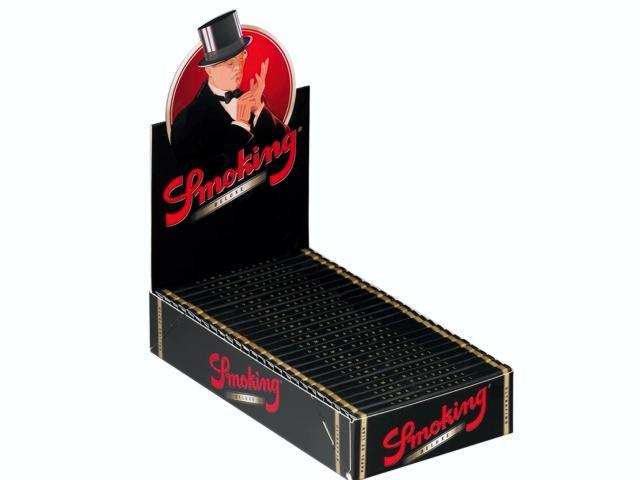 Κουτί με 25 χαρτάκια στριφτού Smoking Deluxe 1 1/4 medioum