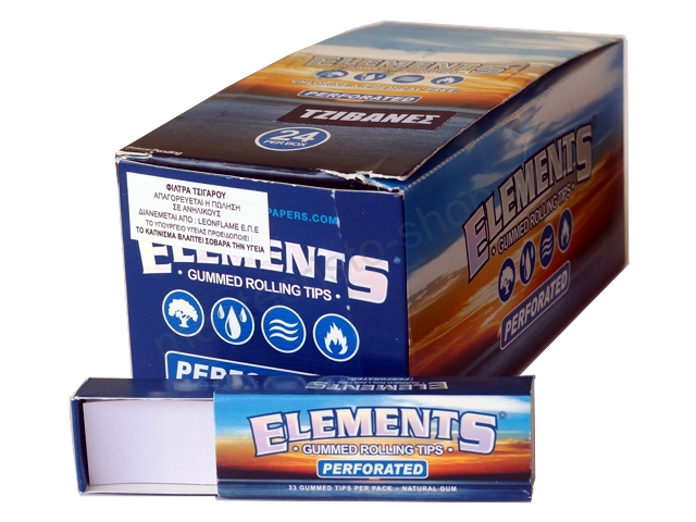 3040 - ����� �� 24 �������� Gummed Rolling Tips Elements Perforated ������� �� �����