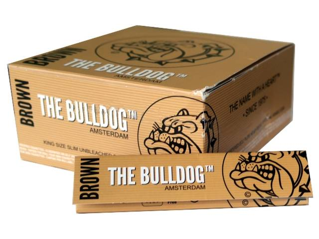 3044 - ����� �� 50 �������� �������� THE BULLDOG Brown Unbleached KING SIZE �����������