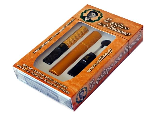Πίπα του παππού με μηχανικά φίλτρα και τσιμούχα 42902-150 αυτοκαθαριζόμενη για κανονικό τσιγάρο 8mm